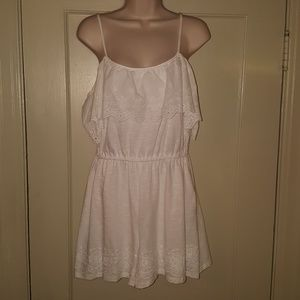 Topshop White Embroidery Romper Sz 8